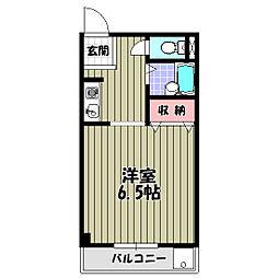 メロディーハイム[1階]の間取り
