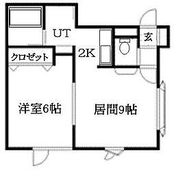北海道札幌市南区澄川四条7丁目の賃貸アパートの間取り