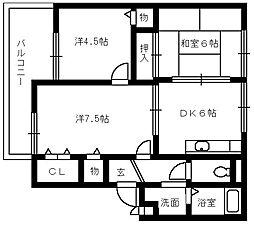 サファージュ高石 A棟[1階]の間取り
