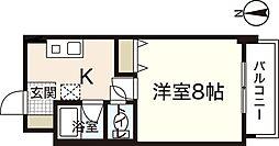 アヴァンセ中筋II[3階]の間取り