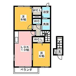 テリオスI[2階]の間取り
