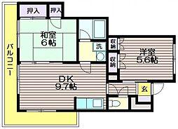 芦花公園ガーデンハイム[305号室]の間取り
