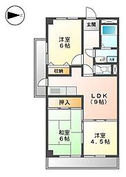 スイートプラザ白壁[3階]の間取り