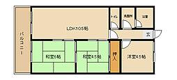 兵庫県神戸市西区持子3丁目の賃貸マンションの間取り