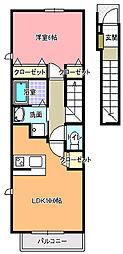 アトリア A[2階]の間取り