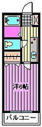 埼玉県さいたま市西区大字土屋の賃貸アパートの間取り