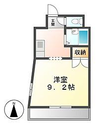 メルベーユI[4階]の間取り