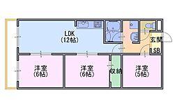 桂川ロイヤルハイツ[5階]の間取り