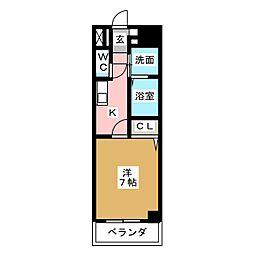 ミーム東新町[5階]の間取り