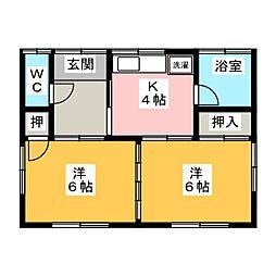 [一戸建] 静岡県富士宮市中島町 の賃貸【/】の間取り