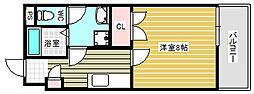 ヒズイマージュ北浜[6階]の間取り