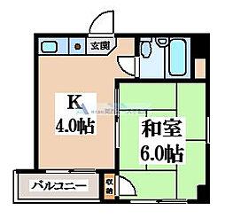 ヤサカパートII[3階]の間取り