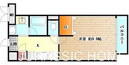 大阪府堺市堺区北半町東の賃貸マンションの間取り