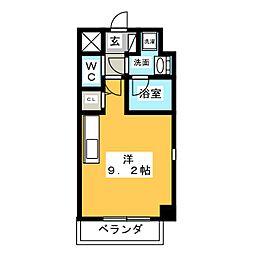 ウイング一屋[2階]の間取り
