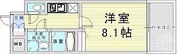 阪神本線 野田駅 徒歩7分の賃貸マンション 9階1Kの間取り