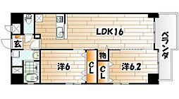 メゾンド・ファミーユ門司港[8階]の間取り