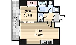 JR阪和線 長居駅 徒歩4分の賃貸マンション 5階1LDKの間取り