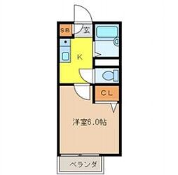 埼玉県和光市新倉1-の賃貸アパートの間取り