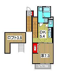 誉蔵壱番館[2階]の間取り