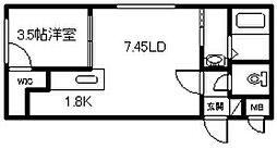 新築 2−10MS[301号室]の間取り