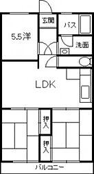 森田ビル[2階]の間取り