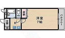 第7レジデンス春田桂坂 1階1Kの間取り