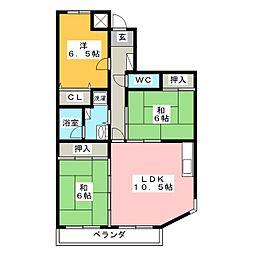 ロイヤルマンション[4階]の間取り