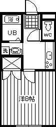サンライズ岸田2003[103号室]の間取り