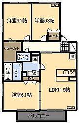 (新築)プロシードII棟[105号室]の間取り