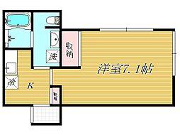 マローネ鷺宮[1階]の間取り