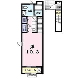 グランド ソレーユ[2階]の間取り