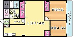 田町ビル[5階]の間取り