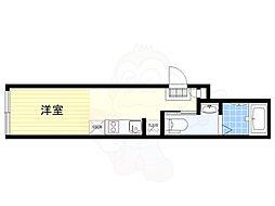 JR中央線 荻窪駅 徒歩10分の賃貸マンション 4階ワンルームの間取り