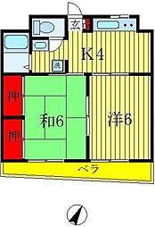 ハイムアベ[1階]の間取り