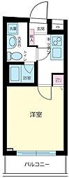 東京都新宿区二十騎町の賃貸マンションの間取り