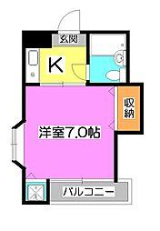 東京都東久留米市本町2丁目の賃貸アパートの間取り