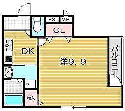 フジパレス吹田寿町III番館[1階]の間取り
