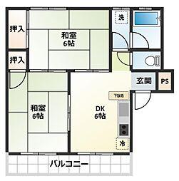 岩崎マンション[2階]の間取り