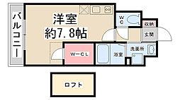 ZONE 1/f PART5[801号室]の間取り