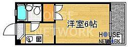 コーポ下鴨13[105号室号室]の間取り