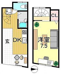 [テラスハウス] 大阪府大阪市平野区流町1丁目 の賃貸【/】の間取り
