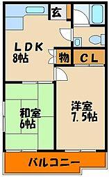 太寺パークハイツ[1階]の間取り