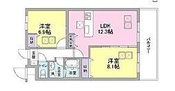 ルネス久宝寺Shibukawa[B402号室]の間取り