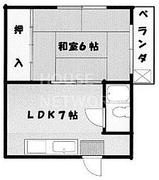 藤川マンション[102号室号室]の間取り