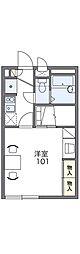 JR片町線(学研都市線) 住道駅 徒歩23分の賃貸アパート 1階1Kの間取り