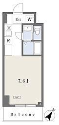 NK103 8階ワンルームの間取り