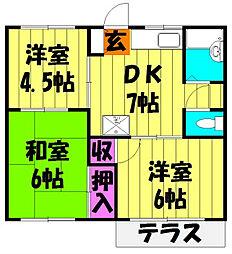 コーポ和田[2階]の間取り