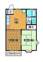 プラトー新ゆり[2階]の間取り