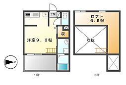 愛知県名古屋市中村区本陣通5丁目の賃貸アパートの間取り