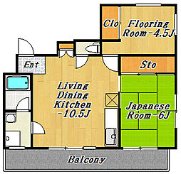 フジマンション第1[8階]の間取り